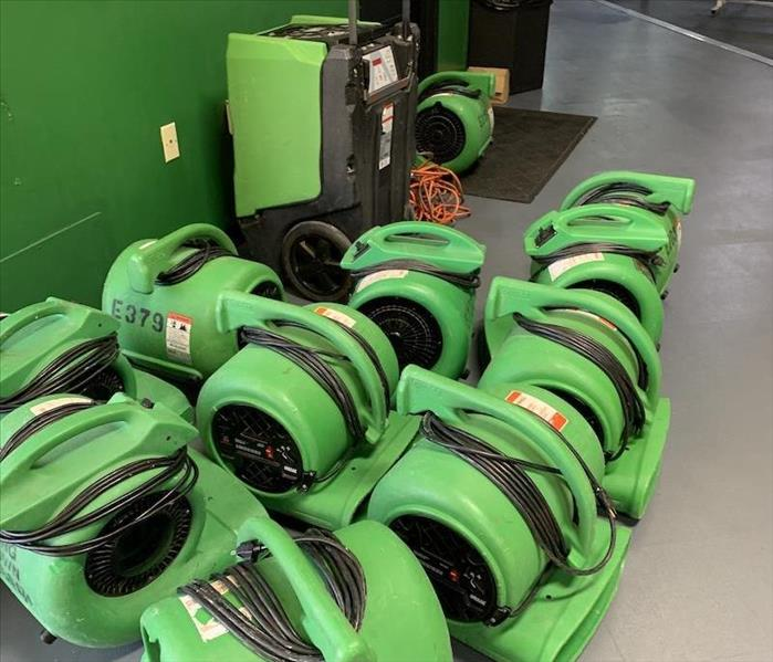 SERVPRO equipment ready for action.